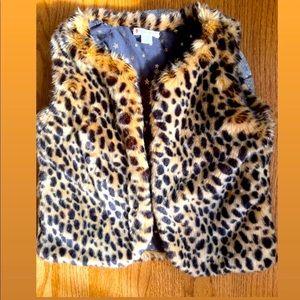 J. Crew Kids - Leopard Print Faux Fur Vest